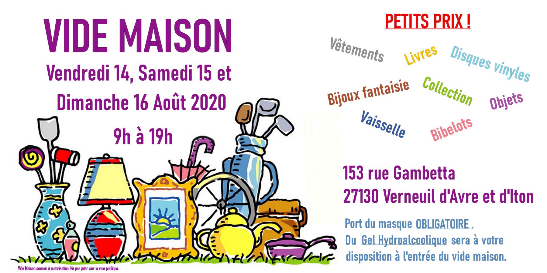 Vide Maison De Particulier Verneuil D Avre Et D Iton Le 14 08 2020 Agenda